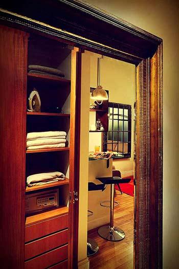 Antique Mirror With Frame Image Closet Interior