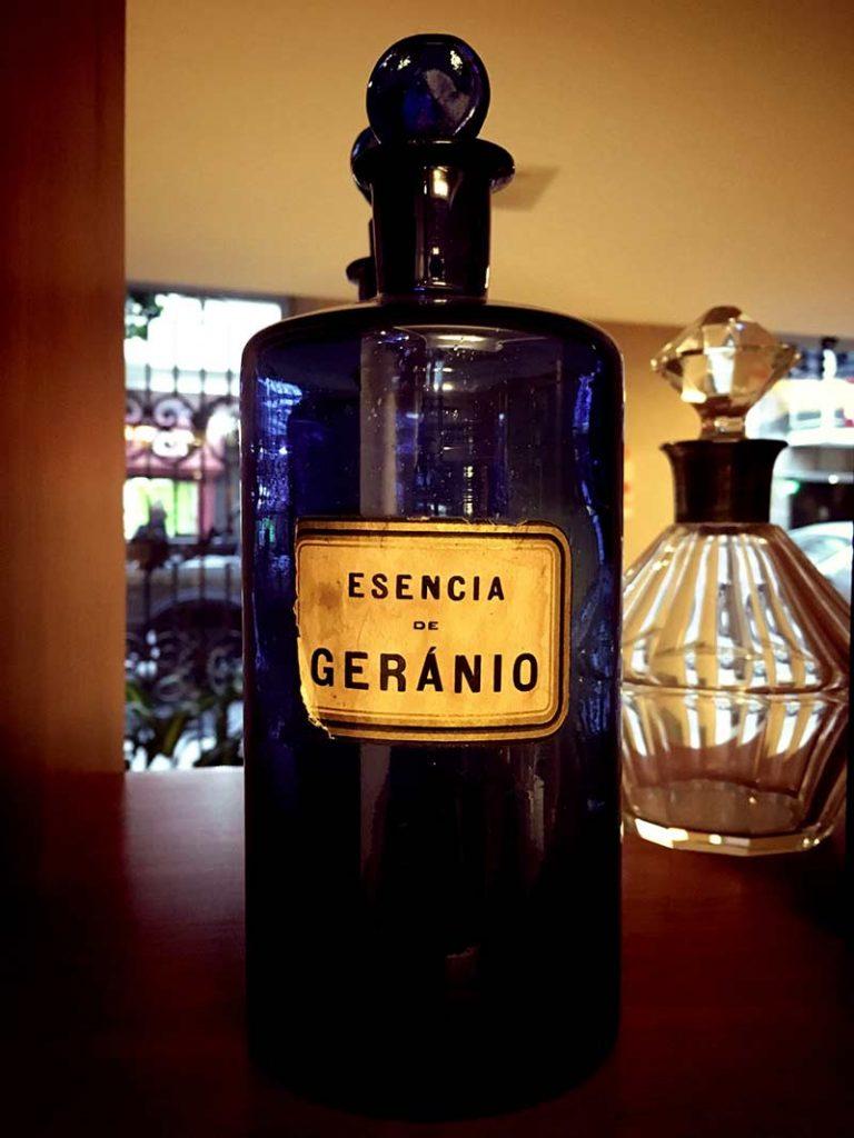 Antique Pharmacy Bottle Blue Glass