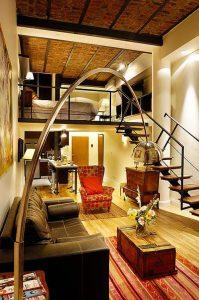 Apart Hotel Buenos Aires Brick Bed Sofa Lamp Bar Closet