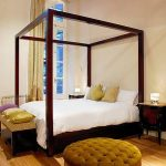 Apart Hotel Buenos Aires Four Post Bed Oval Mirror Ottoman
