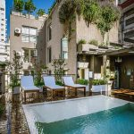 Apart Hotel Buenos Aires Pool Terrace Lounge Chair Honor Bar