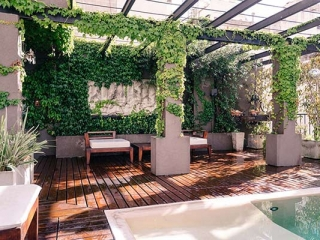 Apart Hotel Buenos Aires Sofa Pool Deck Climbing Plant Table