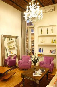 Apart Hotel Buenos Aires Window Mirror Chandelier Sofa Little Table