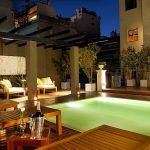 Luxury Rental Apartments Buenos Aires Terrace Night Woden Lounge Chair Cushions
