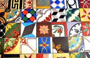 Various Mosaic Tiles Floor Multi Colored
