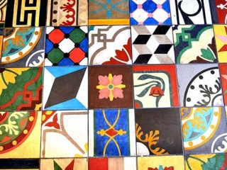 Various Mosaic Tiles Floor Multi Colored