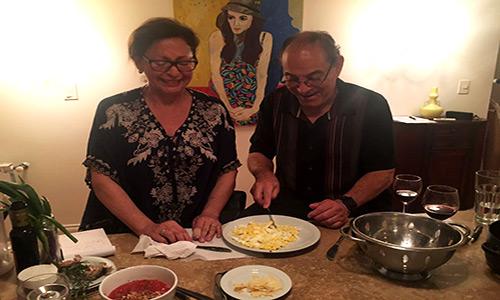 Poetry Building apartments Recoleta cooking empanadas